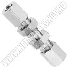 Цанговый фитинг для соединения трубки ∅ 4 мм, прямой, пневматический.