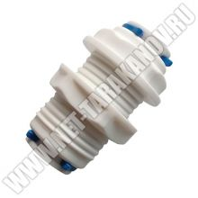 Пластиковый фитинг ∅ 1/4, прямой, пневматический, для быстроразъёмного соединения